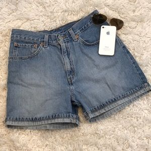 Vintage Levi High Waist Jean Shorts